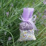 See-through Lilac Bag with Wild Flower Meadow Band